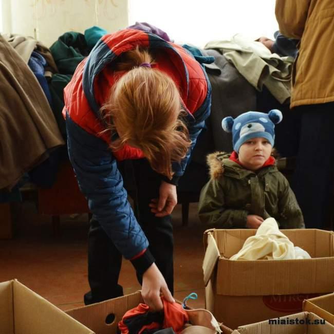 Жители Первомайска получили помощь от «Ночных волков»