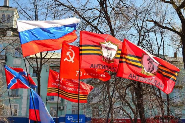 Самое популярное Знамя Великой Победы развернули в Луганске