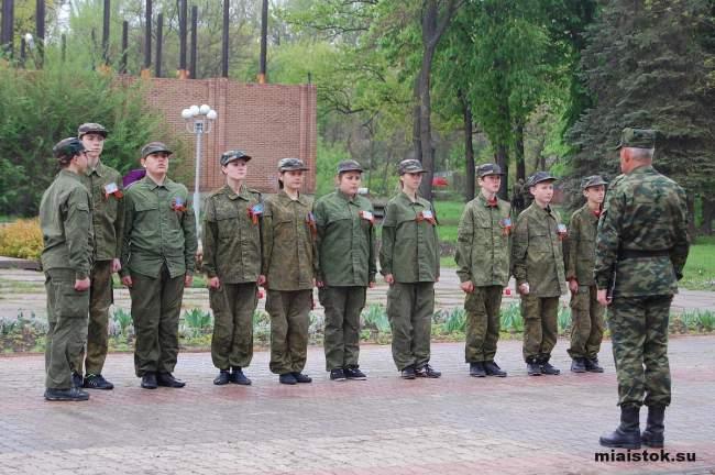 Финал игры «Зарница» в Луганске: под дождём за победой