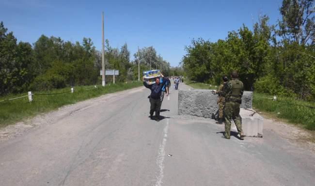Ситуация у пропускного пункта на Станицу Луганскую