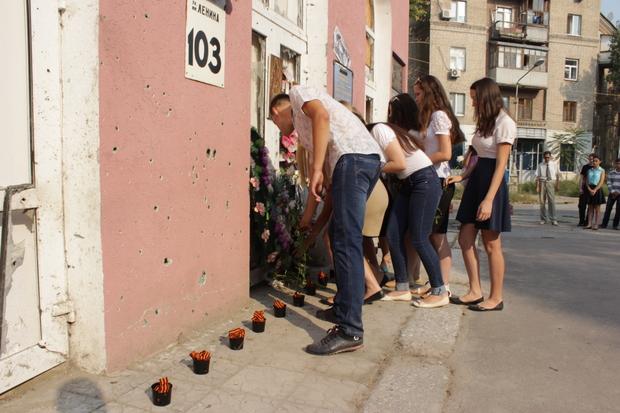 Акция «Расстрелянное детство» прошла в годовщину обстрела школы №7 Луганска (ФОТО)