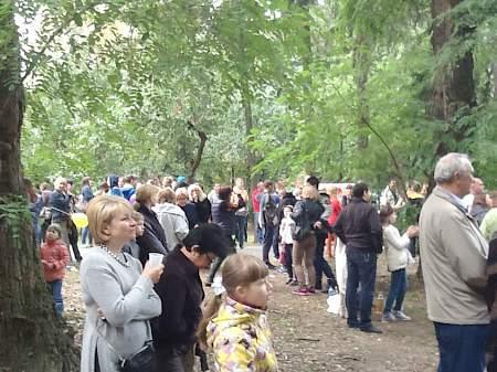 На празднование 220-летия Луганска в Киеве пришли около 2 тыс. человек