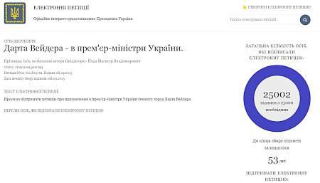 Петиция о назначении Дарта Вейдера премьером набрала 25 тыс. голосов 14:32 Россия планирует обсудить с Египтом продажу оборудования на «Мистралях»