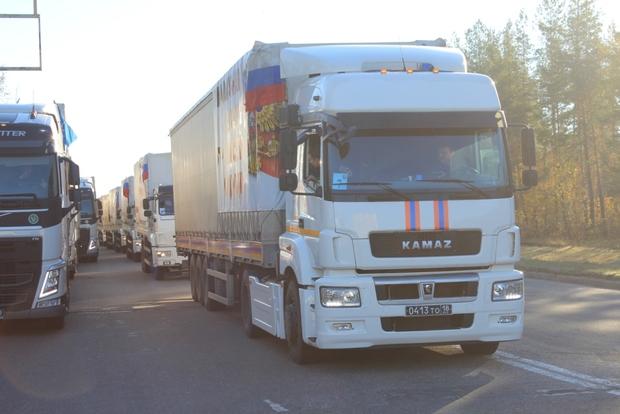 Очередной гуманитарный конвой МЧС России прибыл в Луганск (ФОТО)