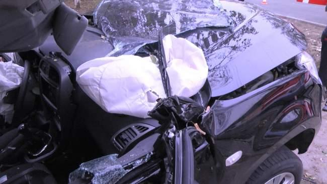 Подробности ДТП, которое произошло сегодня на улице Ломоносова (фото).