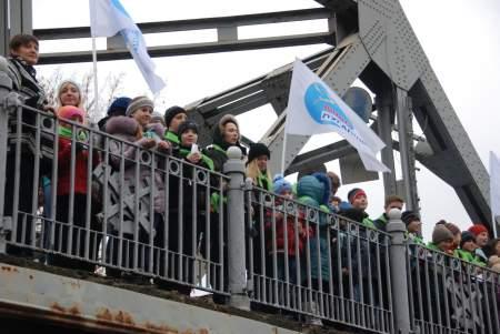 Акция «Путь к миру» состоялась сегодня на берегу реки Лугань
