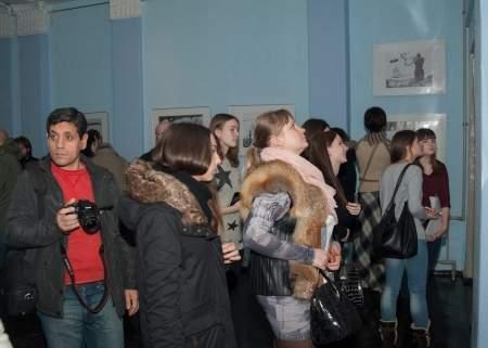 Выставка графики Олега Безуглого открылась в ЛГАКИ имени Матусовского