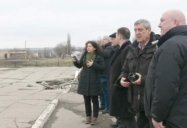 Официальная делегация Всемирной федерации профсоюзов в ЛНР (фото).