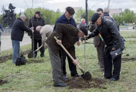 Открытие «Аллеи Памяти» по случаю 30-й годовщины аварии на ЧАЭС
