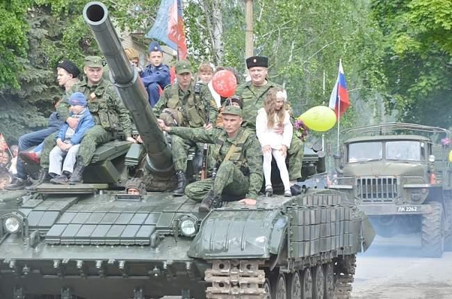 День Победы в Ровеньках. Фото.