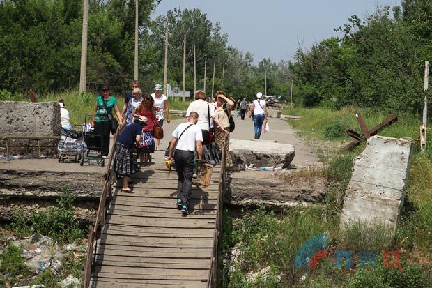 ВСУ возвели блокпост в «серой зоне» у моста в районе Станицы – Народная милиция (ФОТО)