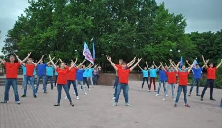 Старт молодежной трудовой смены в Луганске