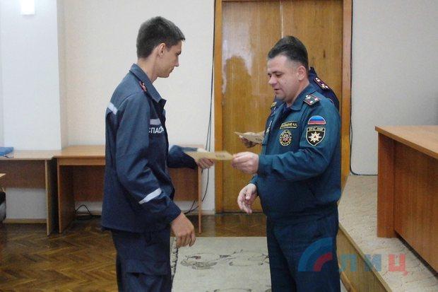 Учебно-методический центр МЧС ЛНР выпустил 29 пожарных-спасателей (ФОТО)