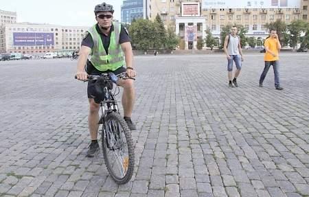 В Харькове начал работу взвод велисопедной полиции