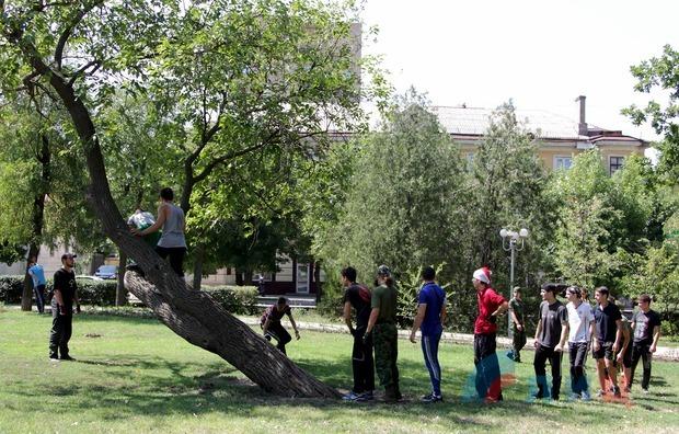 Участники клуба «Доброволец» из Свердловска и Луганска провели совместную тренировку (ФОТО)