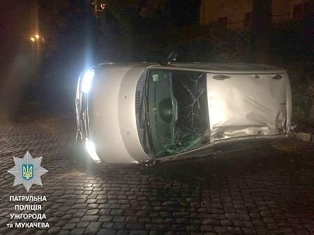 Пьяный пограничник в Ужгороде попал в дорожно-транспортных происшествий, убегая от полиции