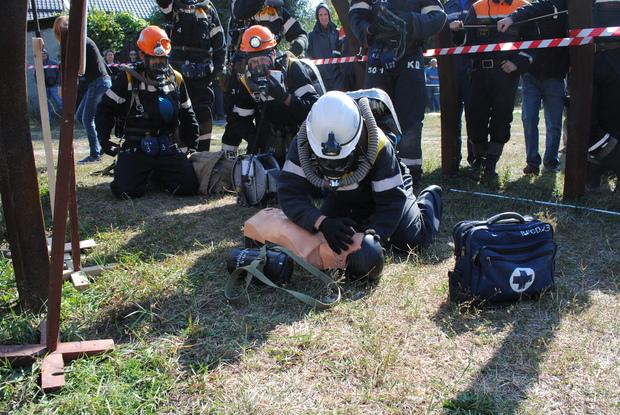 Соревнования горноспасателей ЛНР начались в Красном Луче (ФОТО)