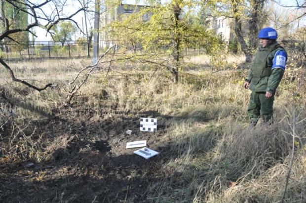 Представители ЛНР в СЦКК зафиксировали последствия обстрела Донецкого со стороны ВСУ (ФОТО)