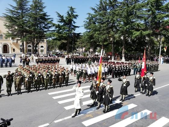 Делегация ЛНР присутствовала на праздничном параде в столице Южной Осетии – МИД (ФОТО)