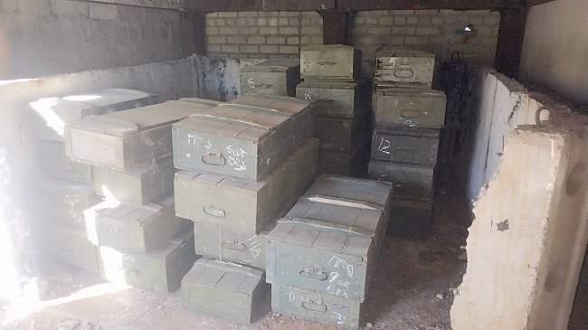 Сотрудниками Генеральной прокуратуры ЛНР выявлен тайник с боеприпасами