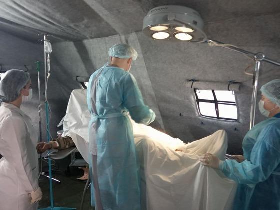 Минздрав ЛНР в рамках тренировок отработал развертывание мобильного госпиталя (ФОТО)