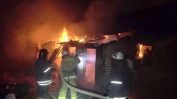 В селе Николаевка на пожаре погибла 64-летняя женщина